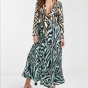 ASOS zebra print multi color dress